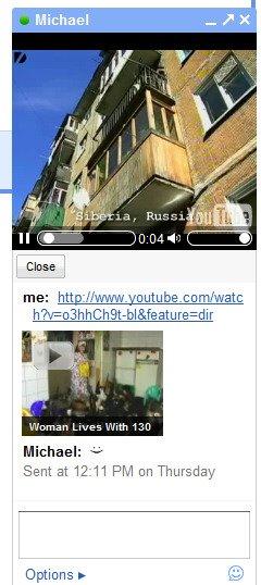 Previsualizacion de video en Gmail Chat