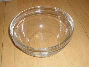 El bol que usaremos como molde y base